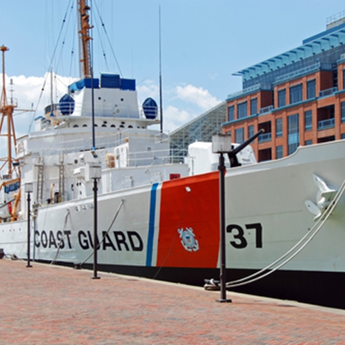 The U.S. and Canadian Coast Guards are working to clear commercial shipping channels in the Great Lakes.